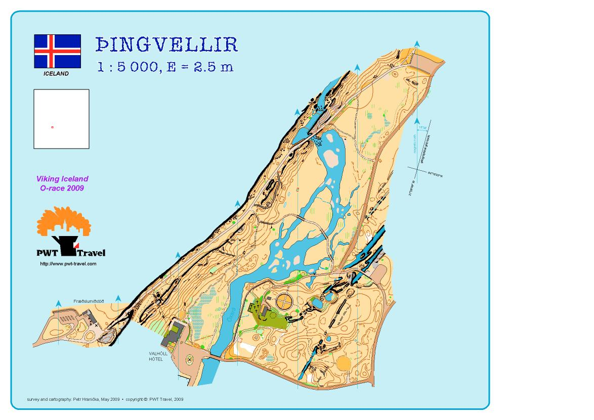 Pingvellir orienteering map